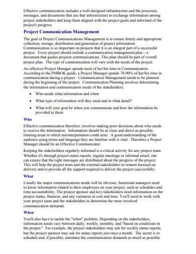effective project communication management