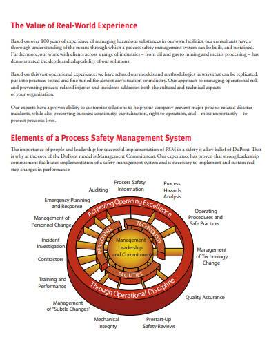 elements of process safety management system