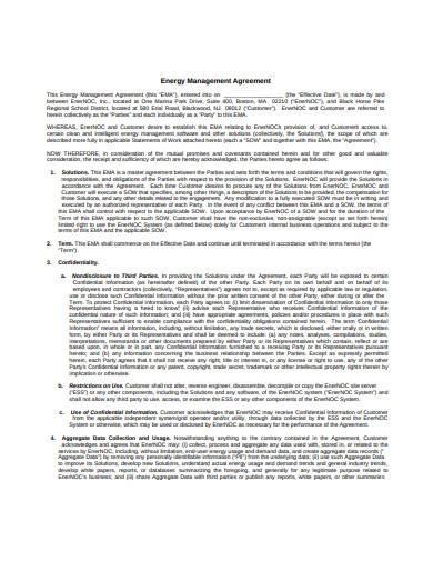 energy management agreement sample