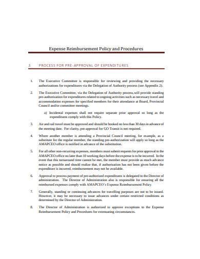 expense reimbursement policy example