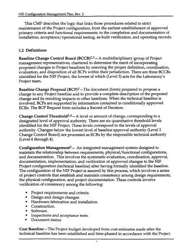 facility configuration management plan sample