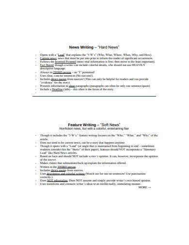 feature writing in pdf