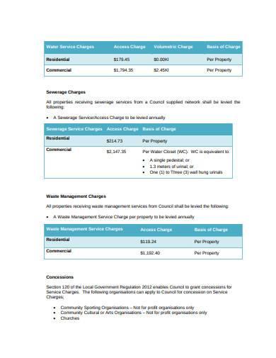 financial revenue statement sample