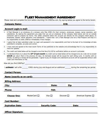 fleet management agreement1