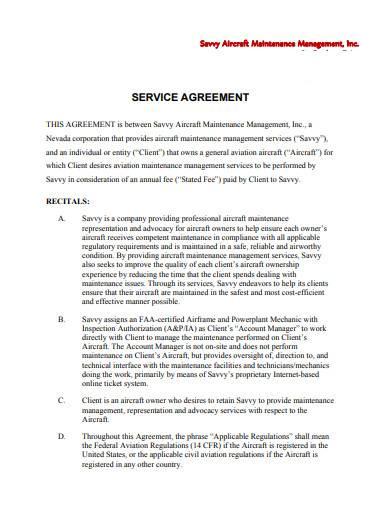 fleet management service agreement