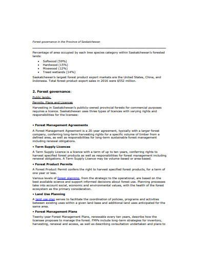 forest management agreement example
