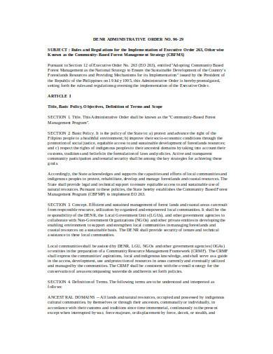 forest management agreement in doc
