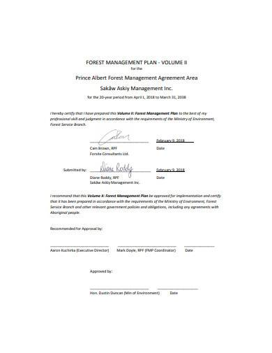 forest management agreement in pdf
