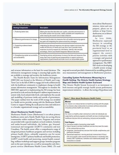 formal information management strategy