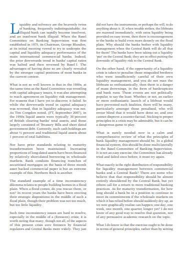 formal liquidity risk management