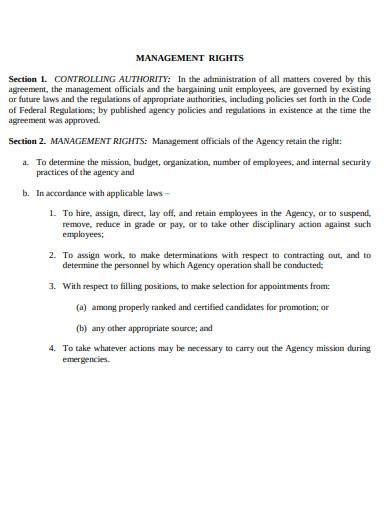 general labor management agreement sample