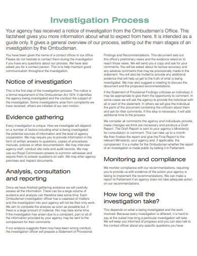 general notice of investigation sample