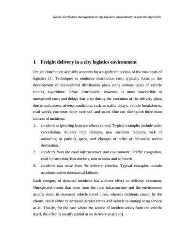 goods distribution management