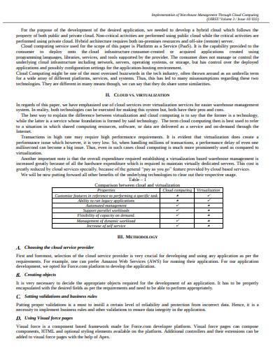 implementation of warehouse management