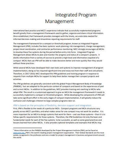 integrated program management