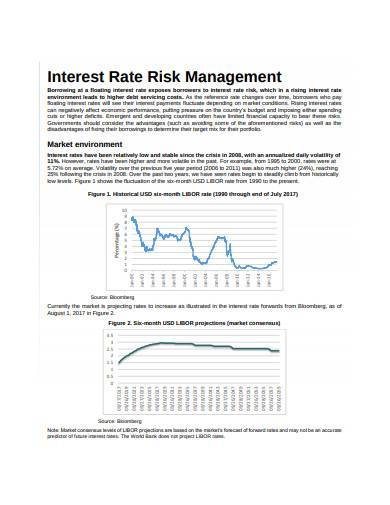 interest rate risk management sample