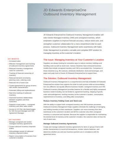 inventory risk management sample