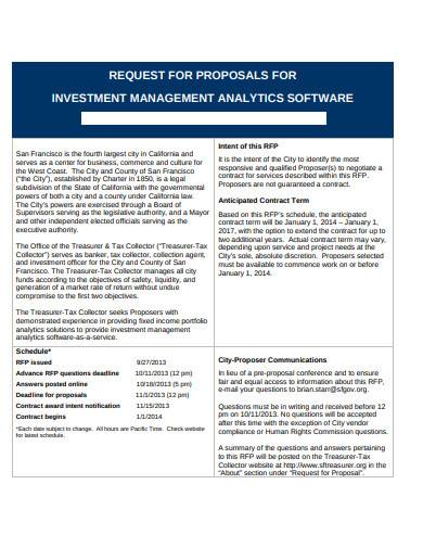 investment management proposal software
