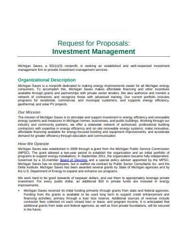investment management proposal