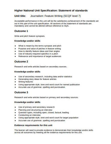 journalism feature writing template