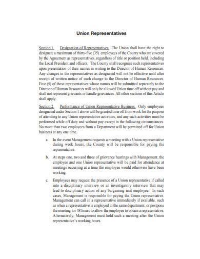 labor management agreement template