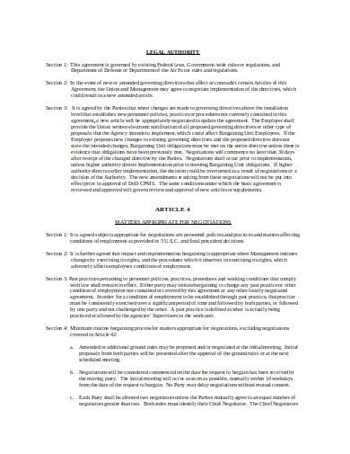 labor management agreement in doc