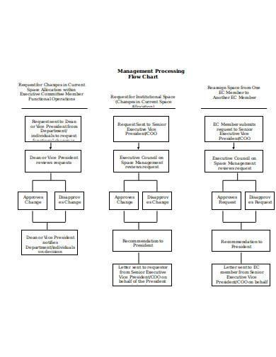 management processing flow chart