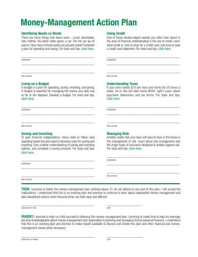 money management action plan