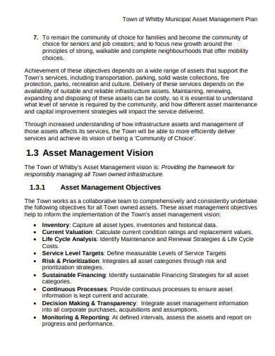 municipal asset management plan template
