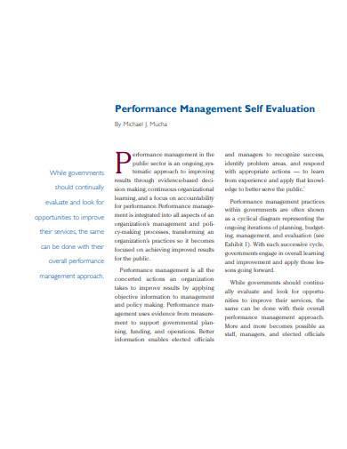performance management self evaluation