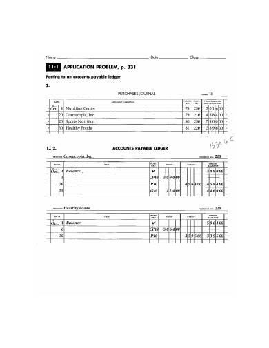 printable accounts payable ledger template
