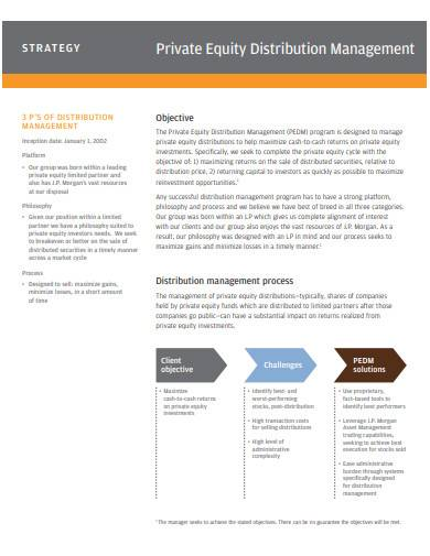 private equity distribution management