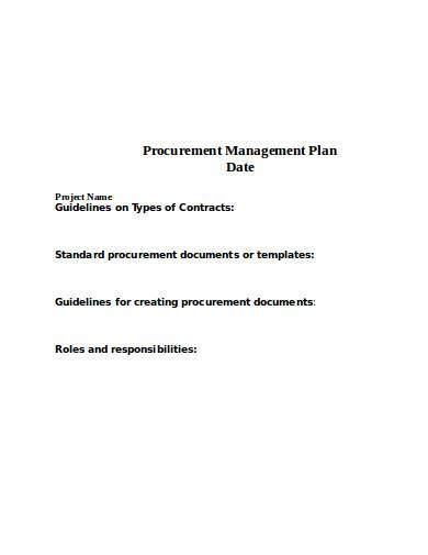 procurement management plan example