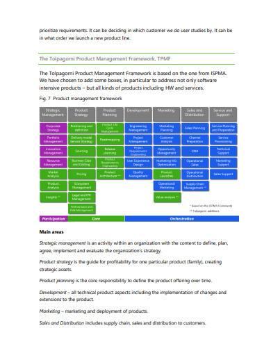 product management framework sample