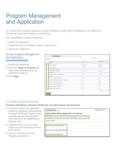 program management and application