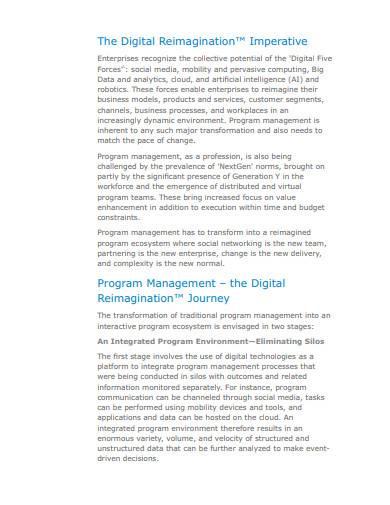 program management in digital enterprises