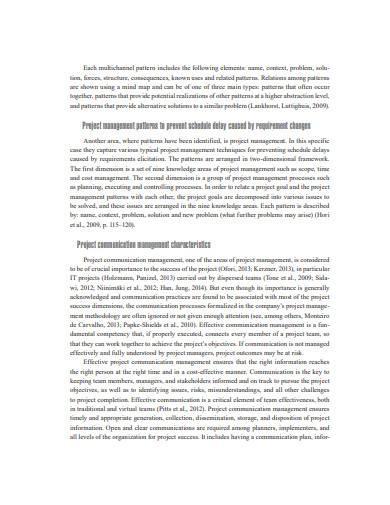 project communication management patterns