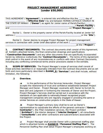 project management agreement template