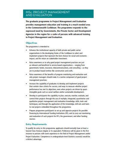 project management evaluation