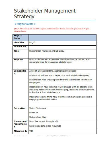 project-stakeholder-management-strategy