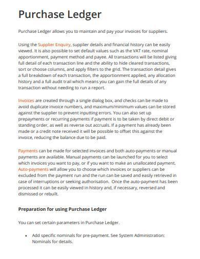 purchase ledger example