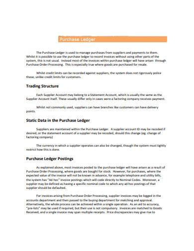 purchase ledger sample
