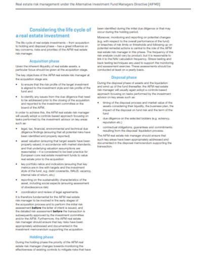 real estate risk management under the alternative investment fund