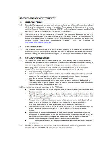 records management strategy in doc
