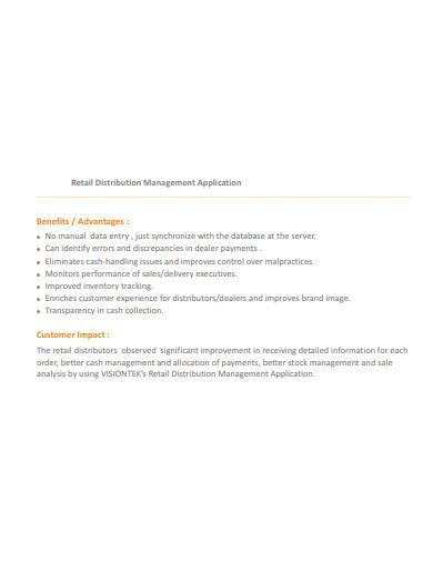 retail distribution management application
