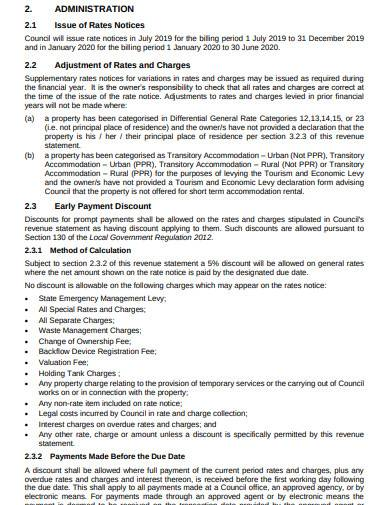 revenue statement template