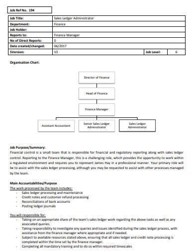 sales ledger administrator
