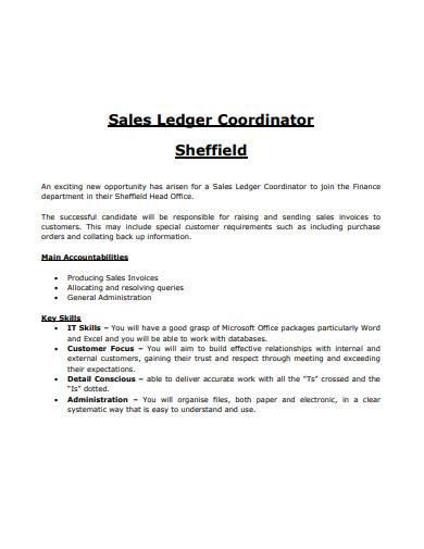 sales ledger coordinator