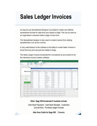 sales ledger invoice