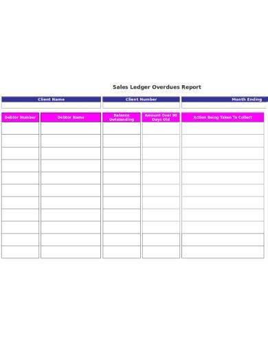sales ledger overdue report